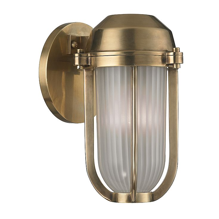 Hudson Valley Lighting 980 Pompey 1 Light Wall Sconce Shown In Aged Brass