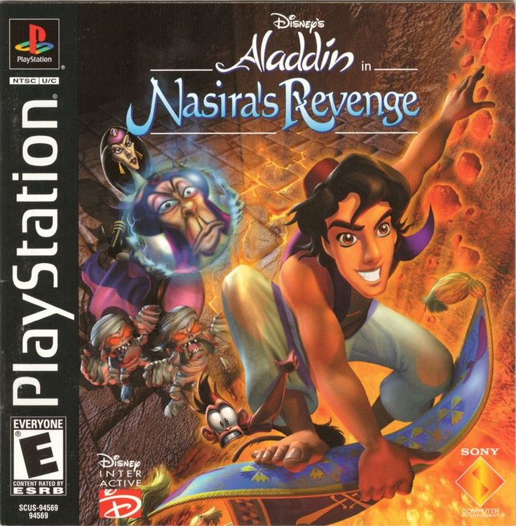 Disney's Aladdin in Nasira's Revenge is a video game based on Aladdin, developed for the Sony PlayStation and PC by Argonaut Games and distributed by Disney Interactive in 2000. It was released for PlayStation in Europe on December 1, 2000 and in North America on March 15, 2001 and for Microsoft Windows in North America March 15, 2001 and in Europe on March 29, 2002. The game is set after the events of The Return of Jafar, but before the events of the television series and Aladdin an...