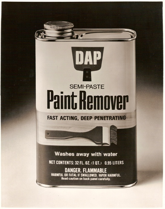 DAP semi-paste paint remover, from our simpler days...