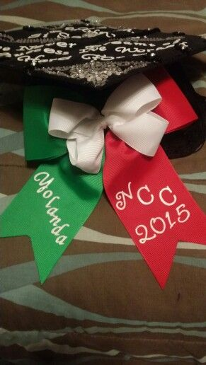 Graduation bow mexican flag colors #NorthCentralCollege