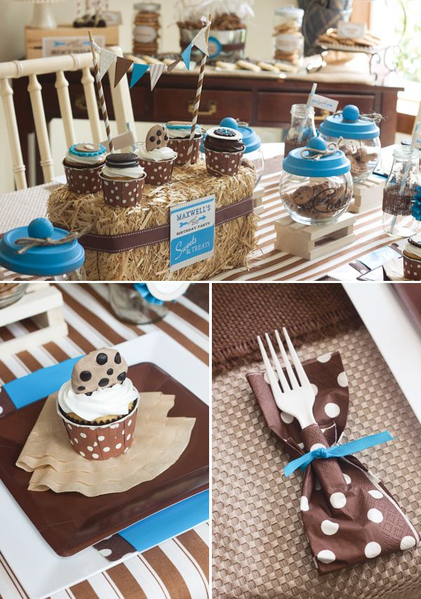 """This is a Vintage Milk & Cookies Birthday Party - but you could use it for a """"Got milk"""" baby shower!"""