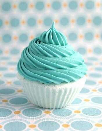 Aqua frosting ~ no recipe.                                                                                                                                                     More
