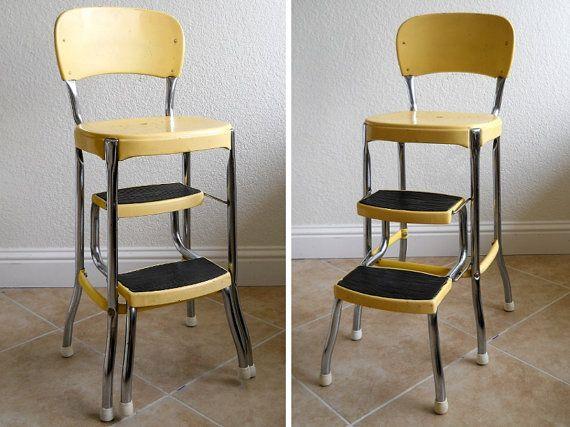 Terrific Vintage Cosco Stylaire Yellow Stepstool Vintage Stool Lamtechconsult Wood Chair Design Ideas Lamtechconsultcom