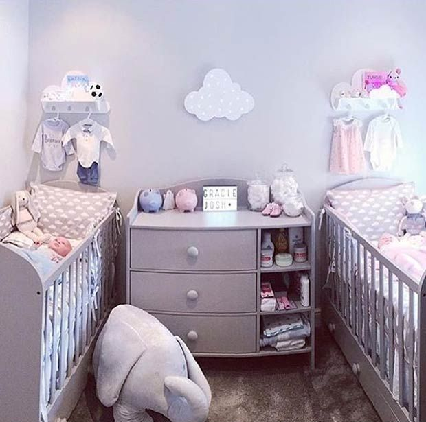 17 Super Cute Nursery And Playroom Ideas Twin Baby Rooms Twin