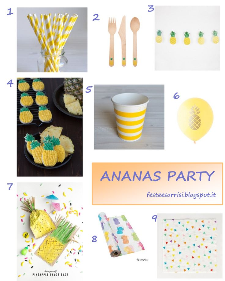 Ananas Party - Idee dal web - Blog Feste e Sorrisi #partyideas  #pineappleparty  #ananasparty  #festebambini
