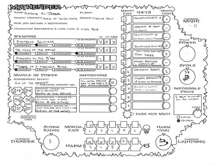 26 best RPG Character Sheets images on Pinterest | Tabletop rpg ...
