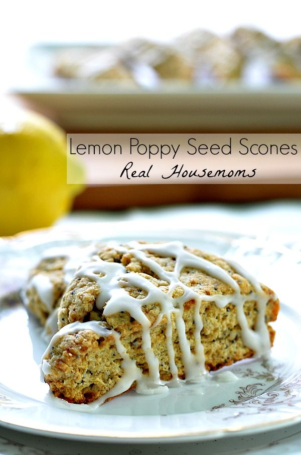 Lemon Poppy Seed Scones | Real HousemomsChoe Housemoms, Wheat Lemon, Lemon Poppies Seeds, Seeds Scones, Food, Scones Brunchweek, Breakfast Snacks, Real Housemoms, Lemonpoppyse Scones