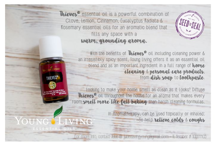 Thieves Young Living Essential Oil Blend Info