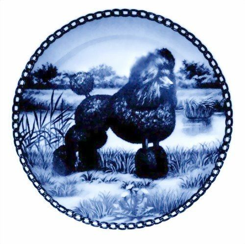 Poodle - Standard / Lekven Design Dog Plate 19.5 cm /7.61 inches Made in Denmark NEW with certificate of origin PLATE no.7132 >>> For more information, visit now : Dog Memorials