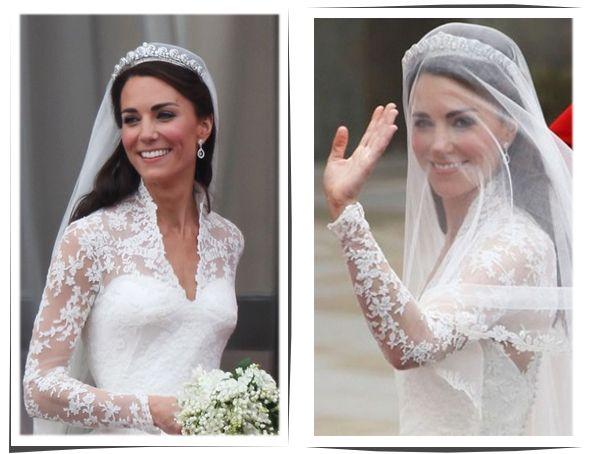 Vestido de Casamento de Kate Middleton será exposto em Buckingham - Escola da Noiva por Agda Paula