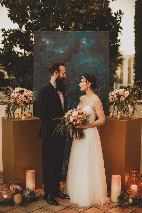 celestial inspired wedding shoot - photo by Bri Costello Photography http://ruffledblog.com/celestial-inspired-wedding-shoot