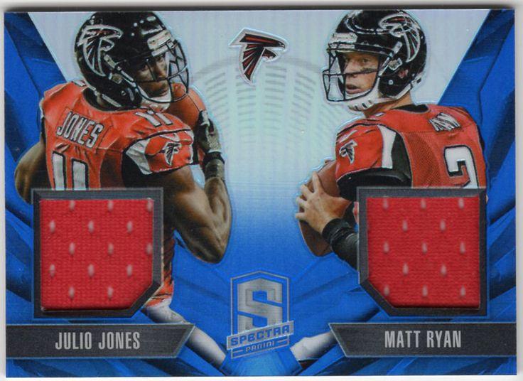 Julio Jones Matt Ryan 2014 Panini Spectra Blue Prizm Dual Jersey Serial #27/49 #AtlantaFalcons   http://www.ebay.com/itm/122343367836?ssPageName=STRK:MESELX:IT&_trksid=p3984.m1555.l2649