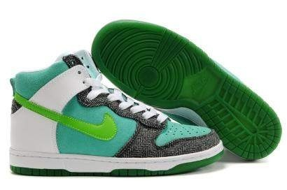 Nike Wmns 6.0 Dunk High Shoes Black Green White