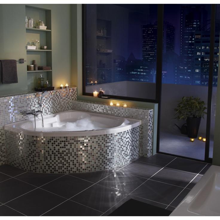 1000 ideias sobre baignoire d angle no pinterest banheira de canto petite - Baignoire balneo thala ...