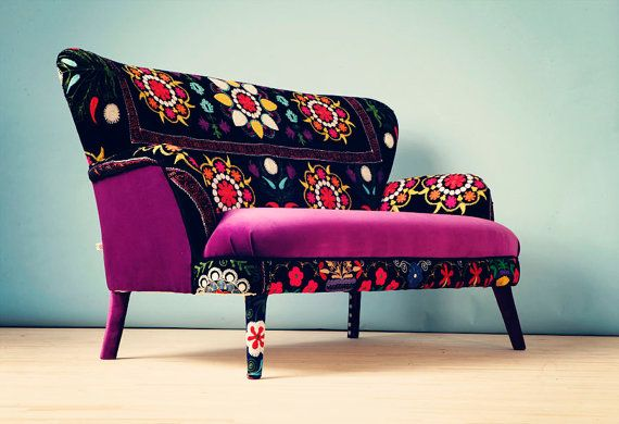 Patchwork sofa with Suzani fabrics  2 by namedesignstudio on Etsy, $2000.00