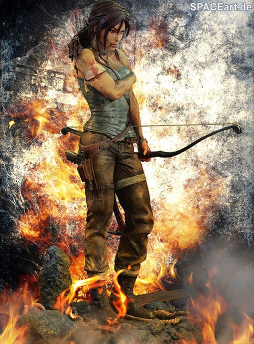 Tomb Raider: Lara Croft - Reboot Statue, Statue ... http://spaceart.de/produkte/spa004.php