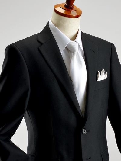 BLACK FORMAL/2ツボタン シングル フォーマルスーツ アジャスター付(ブラックスーツ 礼服 喪服 セレモニースーツ) #フォーマル #スーツ #メンズファッション #スーツスタイルMARUTOMI