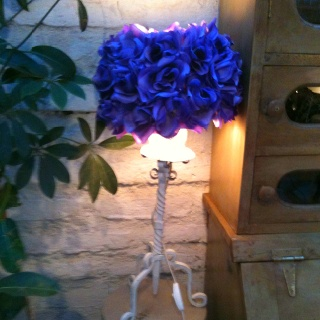 Blue decorative lamp