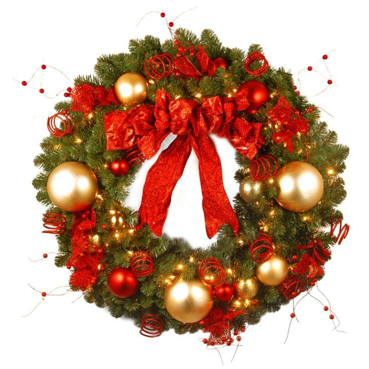 Coronas y guirnaldas de navidad cincuenta modelos for Guirnaldas para puertas navidenas