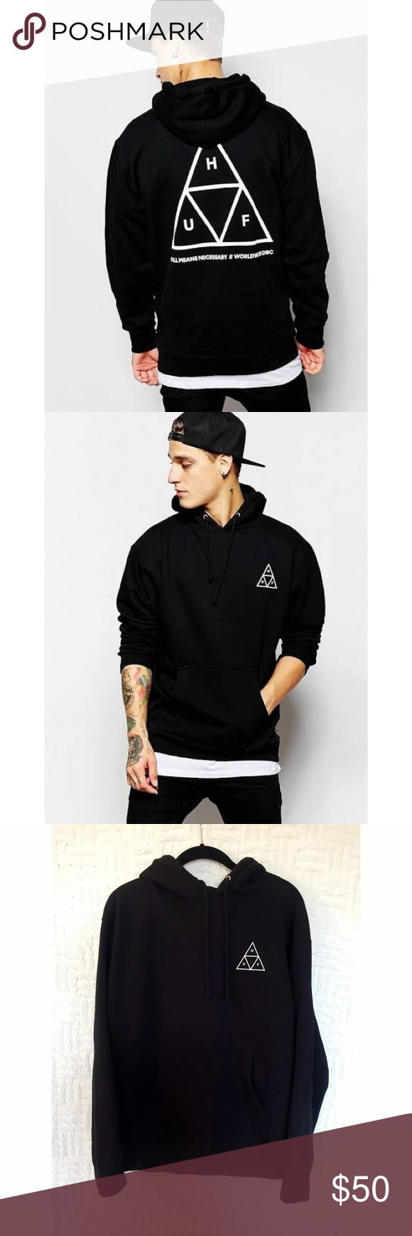 HUF Triple Triangle Hoodie HUF Triple Triangle hoodie in black. Men's size medium; I wore it as a women's medium / large. Great condition, only worn a handful of times. No trades. HUF Shirts Sweatshirts & Hoodies