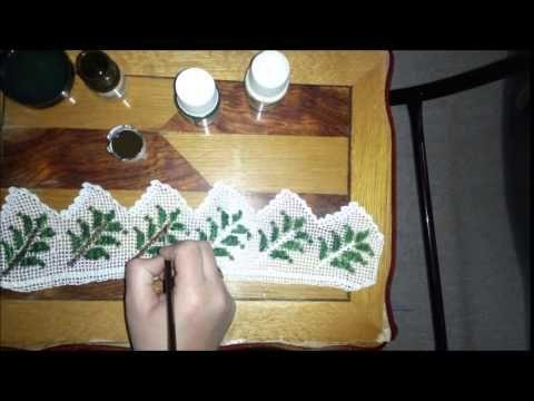 Dantel boyama nasıl yapılır :) - YouTube