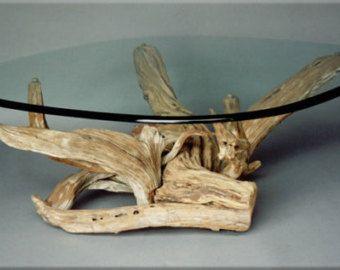 Medium Driftwood Dining Table. Handmade From by CustomDriftwoodArt