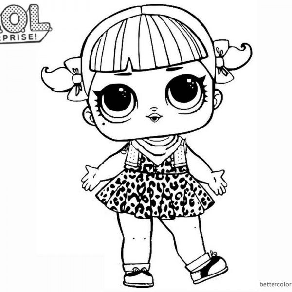Lol Surprise Doll Coloring Pages Series 2 Cherry Hello Kitty
