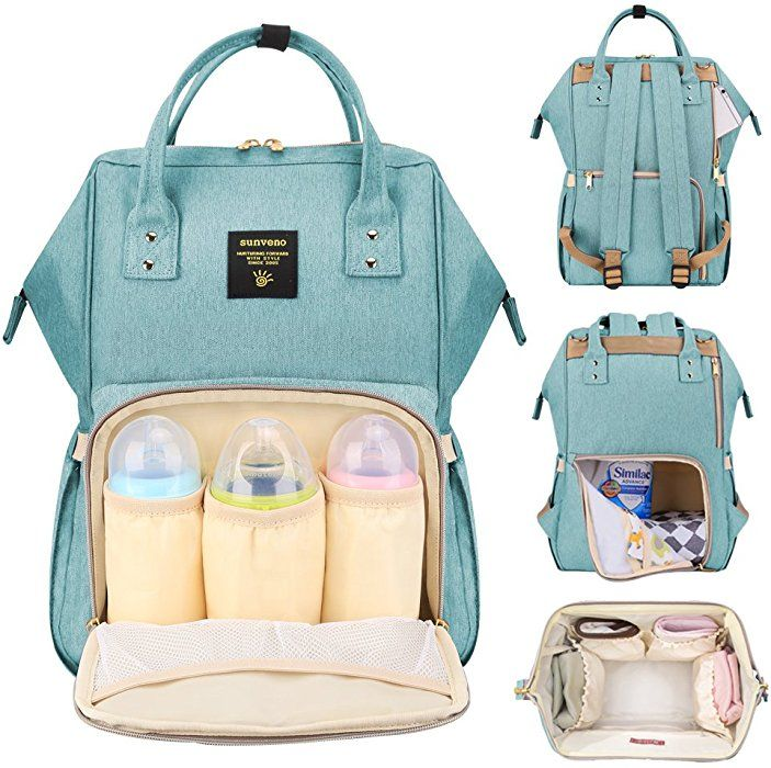 Large Capacity Diaper Bag Backpack Baby Nappy Changing Bag with Insulated Pocket