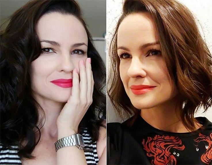 Carolina Kasting muda visual e adota lob hair: 'Alegria da alma'