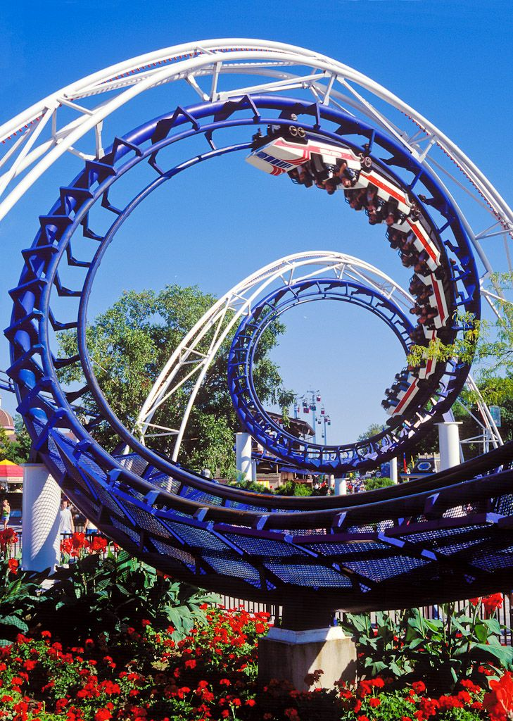 "The Classic Corkscrew Midway Shot!   ""Corkscrew - Cedar Point"""