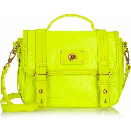 Marc Jacobs Bag: Crocs Effects Leather, Handbags, Style, Jacobs Neon, Color, Leather Shoulder Bags, Marcjacobs, Marc Jacobs, Jacobs Bags
