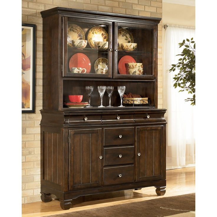 Ashley Furniture Hayley Contemporary China Buffet With Drawer And Door Storage