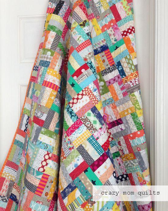 crazy rails quilt - a modern quilt tutorial