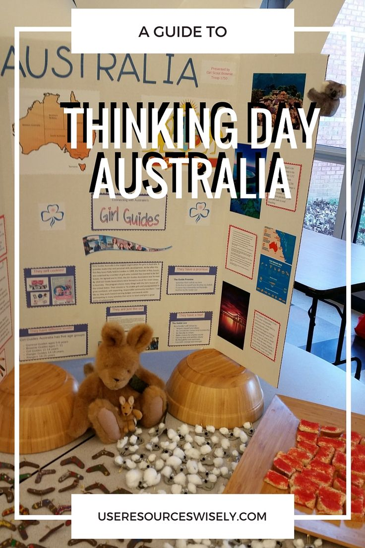 Australia is rich in ideas for troops looking for Thinking Day ideas. From aborigines to Olympics in Sydney, there's plenty to explore. Girl Guides Australia celebrated the 100th anniversary…