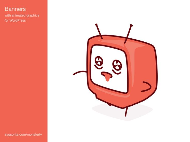 Fresh vector animation and motion design for your Wordpress site. See more: http://svgsprite.com/monstertv/