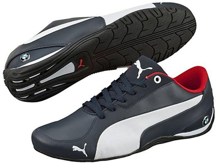 Buty firmy Puma sygnowane logiem BMW, wykonane ze skóry naturalnej najwyższej jakości. Trwałe i wygodne w ciekawej kolorystyce. #buty #jakosc #bmw #kolorystyka