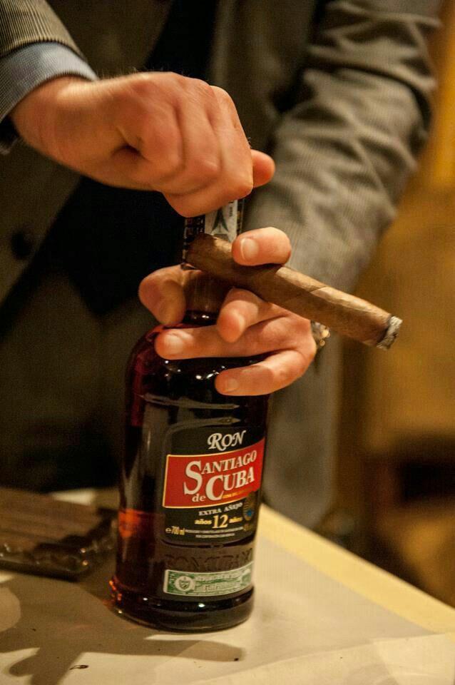 Rum Santiago de Cuba Extra Añejo 12 years. Specially created for Habanos pairing.