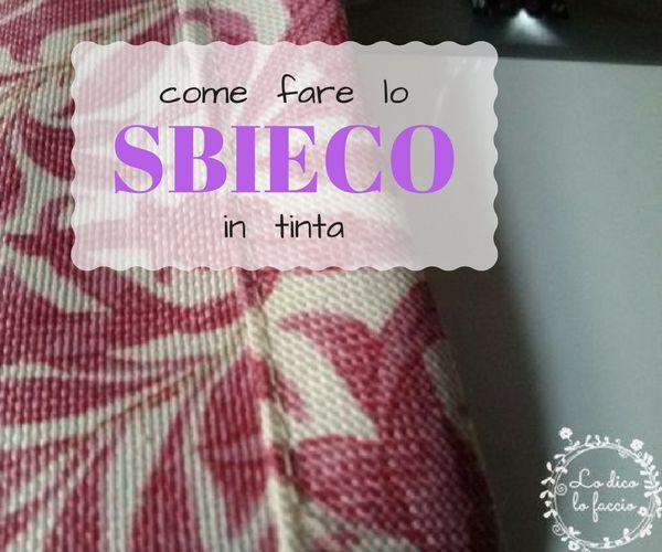 Come fare lo sbieco in tinta [tutorial] http://www.lodicolofaccio.it/2017/06/come-fare-sbieco-tutorial.html