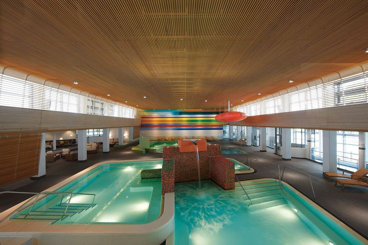VitaSol Therme, Bad Salzuflen,  Germany by 4a Architekten - done with swimming pool ceramics by AGROB BUCHTAL
