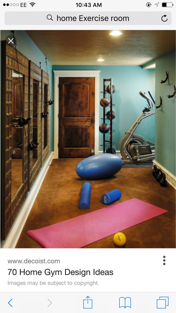 Small home gym with a basketball organizer and lovely mirrors 70 Home Gym  Design Ideas other