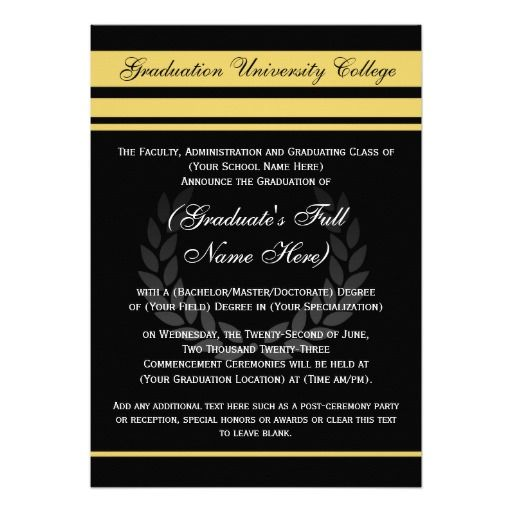 The 141 best cool graduation invitations images on pinterest grad formal college graduation announcements black filmwisefo