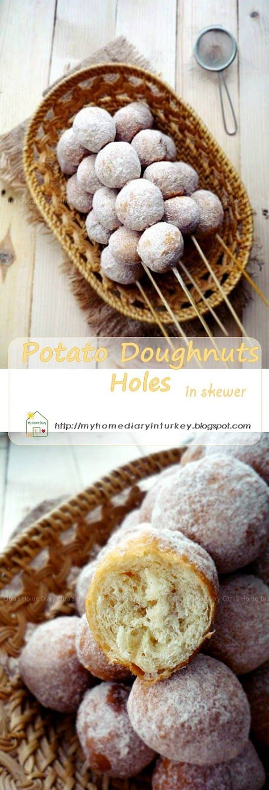 Potato Doughnuts holes in skewer