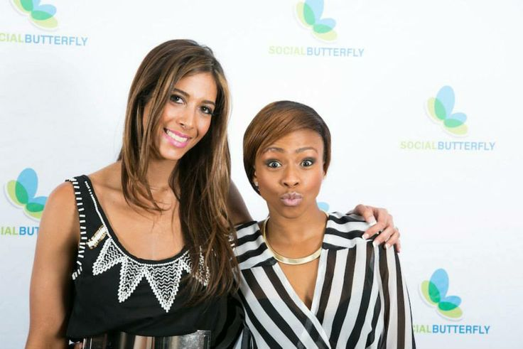 www.celebritygifting.co.za Owner of #celebritygifting Taryn Treisman at a #socialbutterfly exclusive event alongside the #beautiful #model and TV presenter #boity.