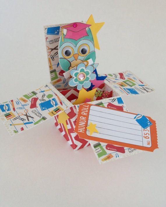 Carte de remise des diplômes dans une boîte Owl par CallMeCraftie
