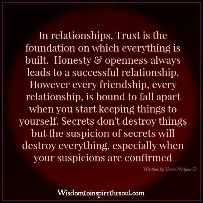 honesty in a relationship As with many things when it comes to relationships, how open and honest you  should be with your partner is often a case of balance.
