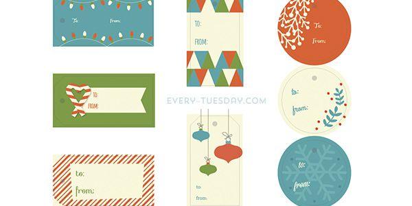 Freebie: Holiday Gift Tags | Every-Tuesday
