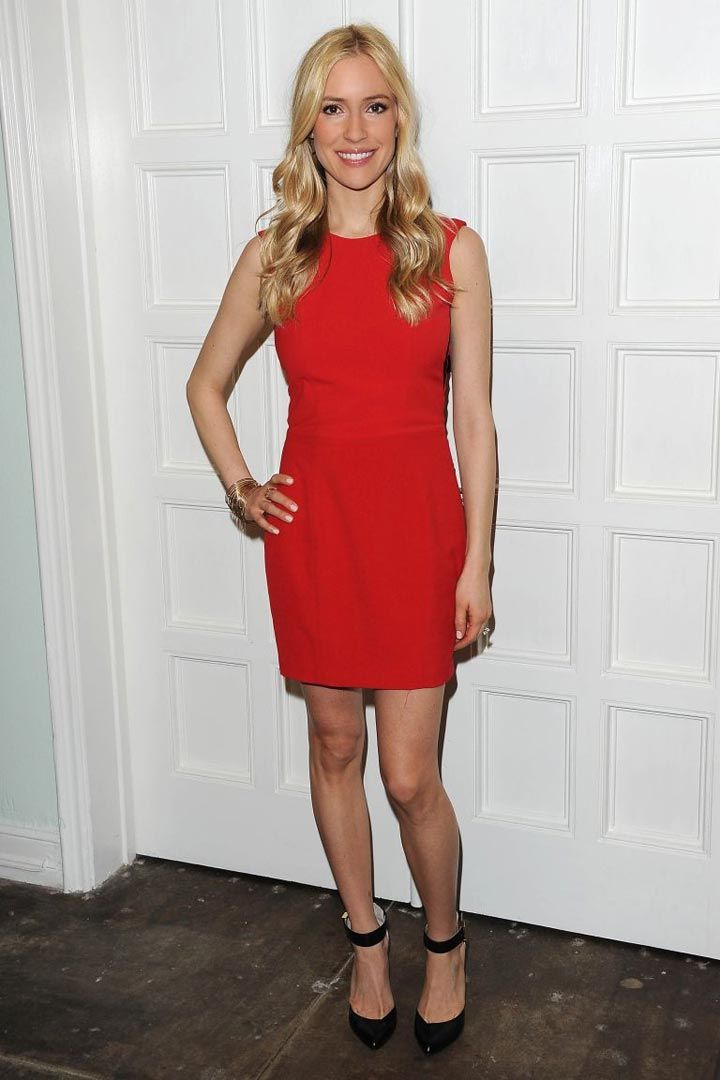 Kristin Cavallari - Red Dress   Black Shoes | Stylish Blondies ...