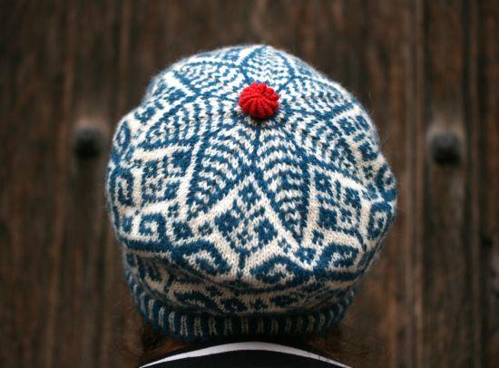 richard the round head Kate Davies Designs. Béret fair isle tricot magnifique.