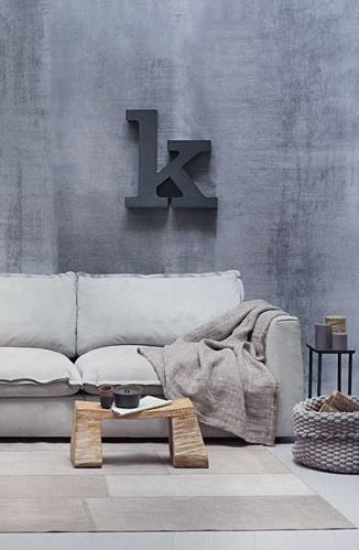 Awesome sofa, good feng shui colors for a metal bagua area of your home (West & Northwest) as well as water area (North)