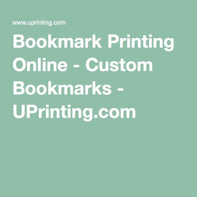 Bookmark Printing Online - Custom Bookmarks - UPrinting.com